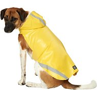 PetRageous Designs London Dog Slicker Raincoat, Yellow, Large