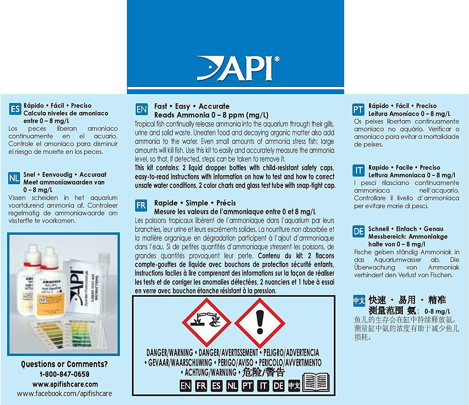 Api ammonia freshwater saltwater test kit 130 count chewy video nvjuhfo Gallery
