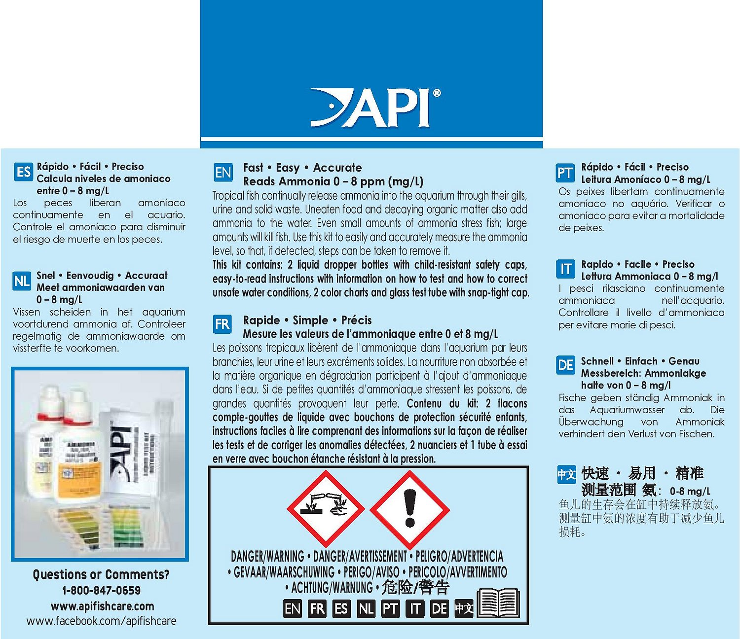 Free downloads | pump & filter instructions | test kit charts.
