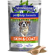 The Missing Link Pet Kelp Skin & Coat Dog Supplement, 8-oz bag