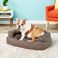 Snoozer Pet Products Luxury Overstuffed Dog & Cat Sofa, Anthracite, Small