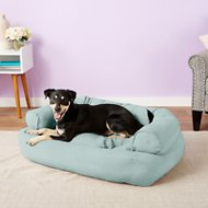 Snoozer Pet Products Luxury Overstuffed Dog & Cat Sofa, Aqua, Large