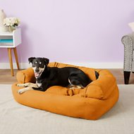 Snoozer Pet Products Luxury Overstuffed Dog & Cat Sofa, Orangeade, Large