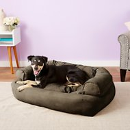 Snoozer Pet Products Luxury Overstuffed Dog & Cat Sofa, Dark Chocolate, Large