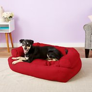Snoozer Pet Products Luxury Overstuffed Dog & Cat Sofa, Red, Large