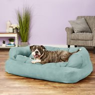 Snoozer Pet Products Luxury Overstuffed Dog & Cat Sofa, Aqua, X-Large