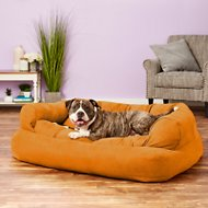 Snoozer Pet Products Luxury Overstuffed Dog & Cat Sofa, Orangeade, X-Large