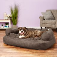 Snoozer Pet Products Luxury Overstuffed Dog & Cat Sofa, Anthracite, X-Large
