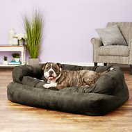 Snoozer Pet Products Luxury Overstuffed Dog & Cat Sofa, Dark Chocolate, X-Large
