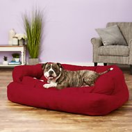 Snoozer Pet Products Luxury Overstuffed Dog & Cat Sofa, Red, X-Large