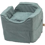 Snoozer Pet Products Luxury Lookout II Micro Suede Dog & Cat Car Seat, Small, Aqua