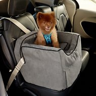 Snoozer Pet Products Luxury Lookout II Micro Suede Dog & Cat Car Seat, Small, Anthracite
