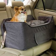 Snoozer Pet Products Luxury Lookout II Micro Suede Dog & Cat Car Seat, Anthracite, Large