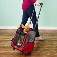Snoozer Pet Products Roll Around 4-in-1 Travel Dog & Cat Carrier, Red, Medium