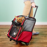 Snoozer Pet Products Roll Around 4-in-1 Travel Dog & Cat Carrier, Large, Red
