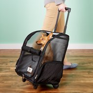 Snoozer Pet Products Roll Around 4-in-1 Travel Dog & Cat Carrier, Large, Black