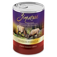 Zignature Venison Limited Ingredient Formula Grain-Free Canned Dog Food, 13-oz, case of 12
