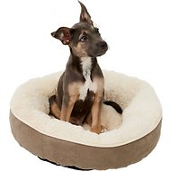 Frisco Round Bolster Pet Bed, Khaki Green, Small