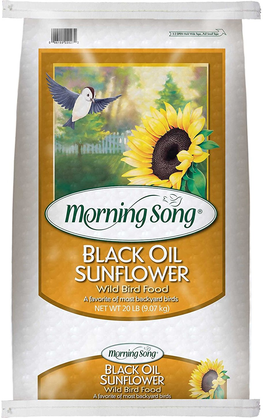 morning song black oil sunflower seed bird food 20 lb bag chewy com