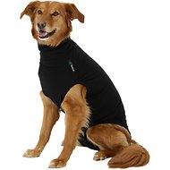 Suitical Recovery Suit for Dogs, Black, Large