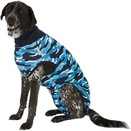 Suitical Recovery Suit for Dogs, Blue Camo, XX-Large