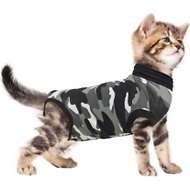 Suitical Recovery Suit for Cats, XX-Small, Black Camo