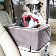 Snoozer Pet Products Luxury Microfiber Console Dog & Cat Car Seat, Dark Chocolate, Small