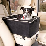 Snoozer Pet Products Luxury Microfiber Console Dog & Cat Car Seat, Black, Small
