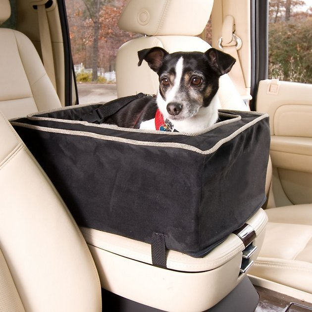 Travel Dog Bed >> Snoozer Pet Products Luxury Microfiber Console Dog & Cat Car Seat, Black, Small - Chewy.com