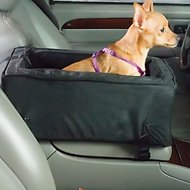 Snoozer Pet Products Luxury Microfiber Console Dog & Cat Car Seat, Anthracite, Large