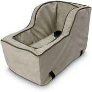 Snoozer Pet Products Luxury Microfiber High Back Console Dog & Cat Car Seat, Buckskin, Large
