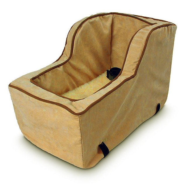 snoozer pet products luxury microfiber high back console dog cat car seat large camel. Black Bedroom Furniture Sets. Home Design Ideas