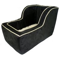 Snoozer Pet Products Luxury Microfiber High Back Console Dog & Cat Car Seat, Large, Black