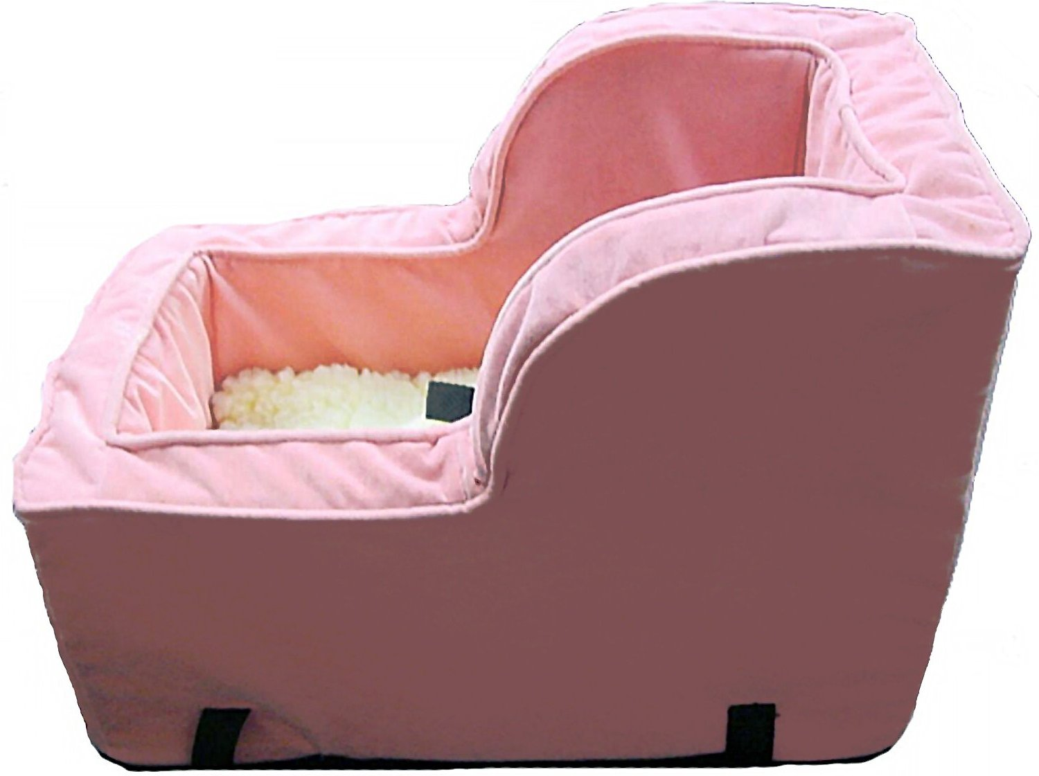 snoozer pet products luxury microfiber high back console dog cat car seat large pink. Black Bedroom Furniture Sets. Home Design Ideas