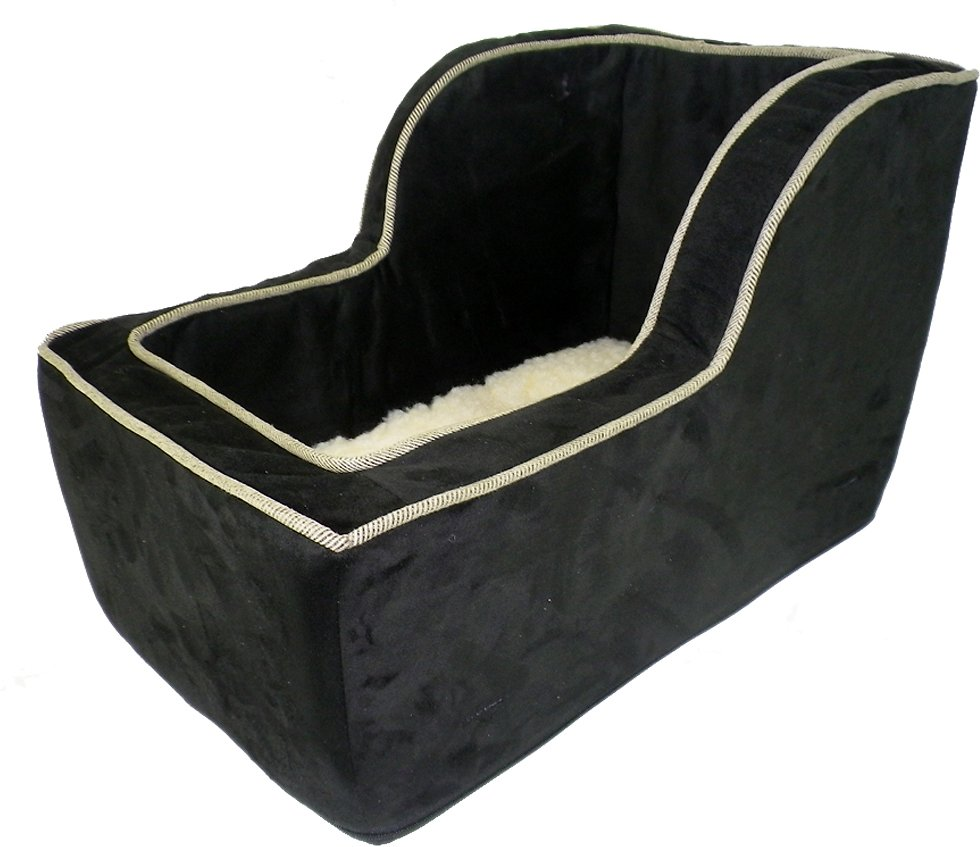 Snoozer Pet Products Luxury Microfiber High Back Console Dog Cat Car Seat Black X Large