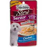 Hartz Delectables Stew Senior Chicken Lickable Dog Treat, 2.1-oz, Case of 12