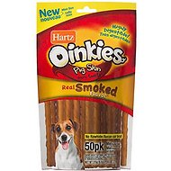 Hartz Oinkies Smoked Pig Skin Mini Twists Dog Treats, 50-count