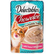 Hartz Delectables Chowder Tuna & Whitefish Lickable Cat Treat, 1.4-oz, case of 12