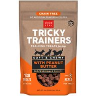 Cloud Star Tricky Trainers Chewy Grain Free Peanut Butter Flavor Dog Treats, 5-oz