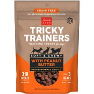 Cloud Star Tricky Trainers Chewy Grain Free Peanut Butter Flavor Dog Treats, 12-oz