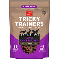 Cloud Star Tricky Trainers Chewy Grain Free Liver Flavor Dog Treats, 12-oz bag