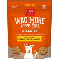 Cloud Star Wag More Bark Less Grain Free Peanut Butter & Apples Flavor Dog Treats