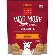 Cloud Star Wag More Bark Less Grain Free Pumpkin Flavor Dog Treats
