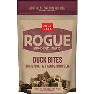 Cloud Star Rogue Air-Dried Duck Bites Dog Treats, 2.5-oz bag