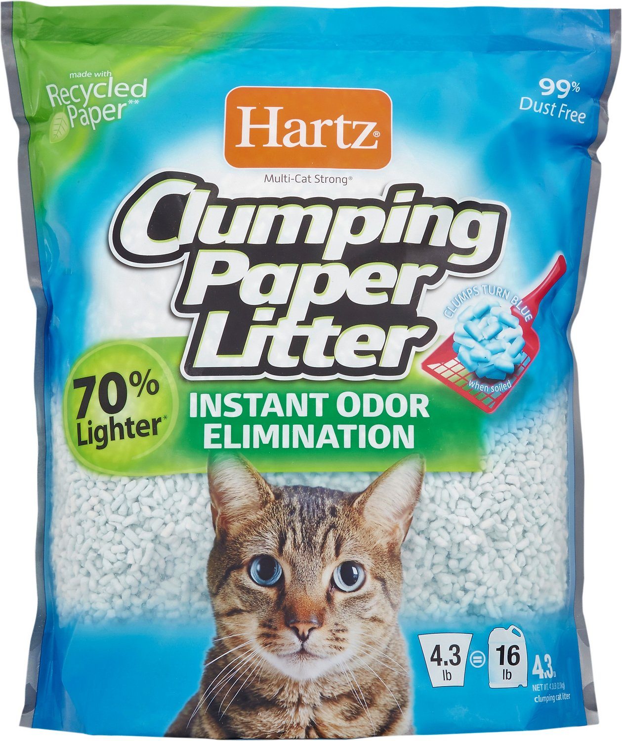 Hartz Multi Cat Strong Clumping Cat Litter 4 3 Lb Bag Chewy Com
