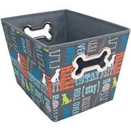 Paw Prints Fabric Toy Bin, Word Design