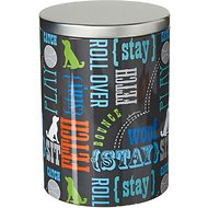 Paw Prints Tin Treat Jar, Word Design, Large