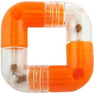 Planet Dog Orbee-Tuff Link Interactive Puzzle Dog Toy, 4 piece, Orange