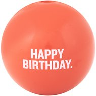 Planet Dog Orbee-Tuff Happy Birthday Ball Dog Toy, Coral