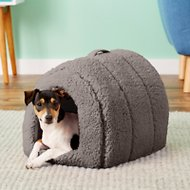 Best Friends by Sheri Sherpa Igloo Dog & Cat Bed, Grey